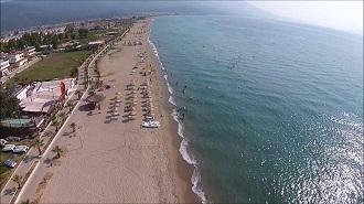 Kuşadası Davutlar Plajı Havadan Kamera İzle