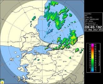 İstanbul Meteoroloji Radar Görüntüsü