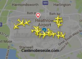 Londra Heathrow Havalimanı Canlı Uçuş Uçak Takibi