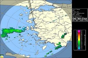 İzmir Canlı Yağış Radar Görüntüsü İzle